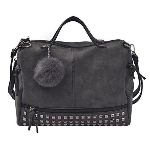 Borse donna,kword donne hit colore pelle borse borsetta borsa casual borsa tracolla crossbody bag (borse nero)