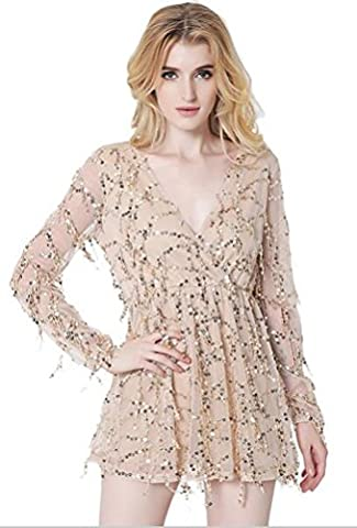 SunIfSnow Damen Tunika Kleid, Einfarbig Gr. M, aprikose