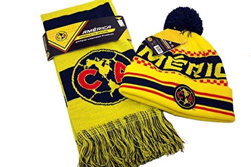 5f2972384f9 Ca Club América auténtico producto con licencia oficial fútbol Beanie y  Bufanda Combo – 005