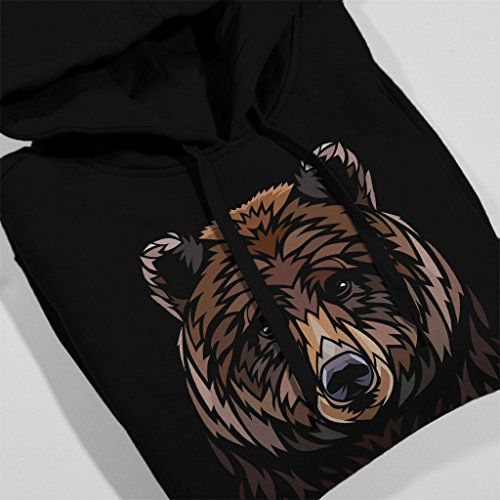 Tribal Bear Men's Hooded Sweatshirt Black
