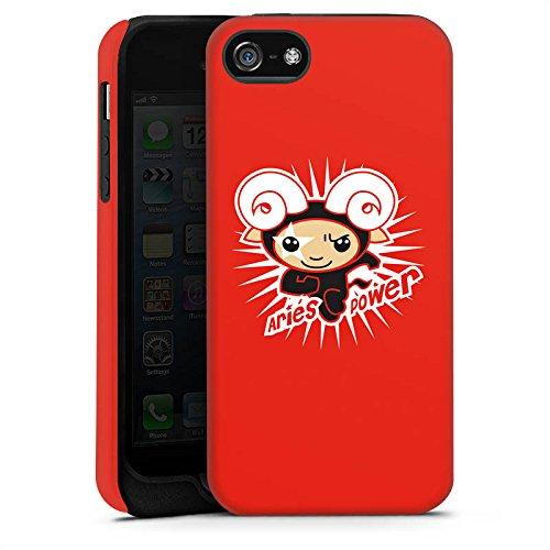 Apple iPhone 4 Housse Étui Silicone Coque Protection Bélier Étoiles Signes du zodiaque Cas Tough terne