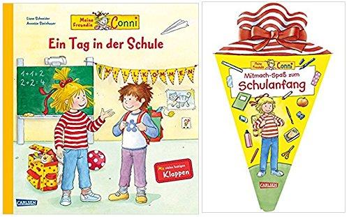 Carlsen Verlag GmbH Freundin Conni - Ein Tag in der Schule: Sachbuch mit vielen Klappen (Conni-Bilderbücher) und Mitmach-Spaß zum Schulanfang (Conni Gelbe Reihe) Taschenbuch