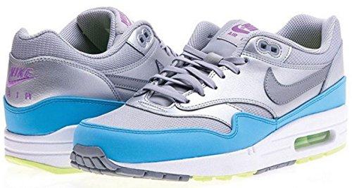 Air Max Silber Nike (Nike Air Max 1 FB 579920-004 Silber-Grau-Hellblau Größe 47,7 US 13 UK 12 31 cm)