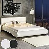 Miadomodo Kunstlederbett Doppelbett Polsterbett Ehebett Bett mit integriertem Lattenrost in zwei verschiedenen farben und Größen