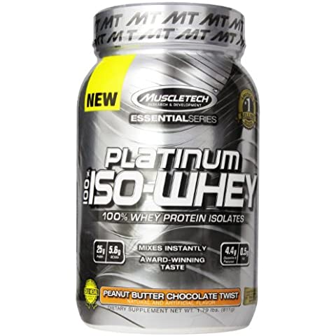 MuscleTech Platinum 100% ISO Whey, 100% Whey Protein Isolates Powder,