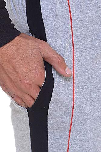 Vimal Men's Cotton Blend Track Pants Grey