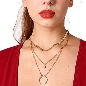 XUHAHAXL Halskette/Retro Nationalen Stil, Übertriebene Persönliche Schmuck, Legierung Anhänger, Mehrschichtige Schlüsselbein Halskette