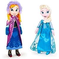 Disney PACK DE 2 PELUCHES FROZEN - ELSA + ANNA