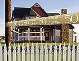 Absperrband - *Zahl 50 Gold * als Deko für Goldene Hochzeit und Geburtstag // Jubiläum Goldener Geburtstag Party Fete Girlande
