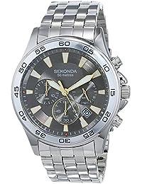 Sekonda Men's Quartz Watch with Chronograph Display and Stainless Steel Bracelet