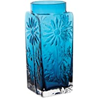 Dartington Crystal Marguerite Large Vase, Teal