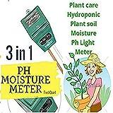FreshDcart Solar Soil Plant Care New 3 In 1 Water Moisture Hydroponic Plants