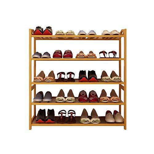 Porte-chaussure en bois massif à cinq couches en bambou simple en bois pour enfants