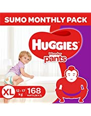 Huggies Wonder Pants Diapers Sumo Pack, Extra Large (168 Count)