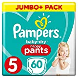 Pampers - Baby Dry Pants - Couches-Culottes Taille 5 (12-17 kg) - Jumbo+ Pack (x60...
