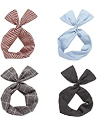 d4014f10c2df Twist Nœud filaire Bandeaux Foulard pour cheveux accessoire de cheveux en  bord de mer Team (