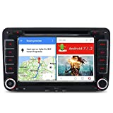 A-Sure 7 Zoll Android 7.1.2 Autoradio DAB OBD DVB GPS DVD 4G Wifi Bluetooth Auto Navi für VW Passat Golf 5 6 Touran Tiguan Transporter Multivan T5 Polo Jetta Caddy Sharan Skoda Seat Altea SEW7J