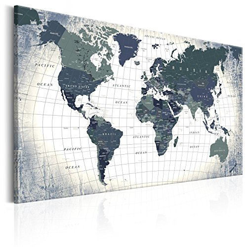 Desertcart pinboards canvas prints buy pinboards canvas prints murando pinboard map 120x80 cm 472 by 315 in image printed on canvas with cork backing poster pin board world map white grey k b 0011 p c gumiabroncs Choice Image