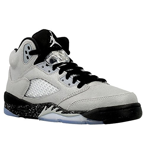 Nike Air Jordan 5 Retro GG, Scarpe da Basket Donna, Gris (Wolf Grey / Black-Black), 38 1/2 EU