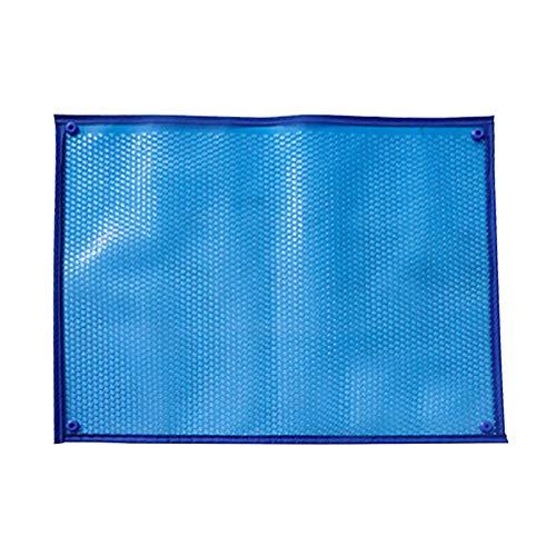 Schattierungsnetz YXX wasserdichte Solarabdeckungs-Heizdecke für in den Boden eingelassene und oberirdische rechteckige Schwimmbäder, blau, rechteckig (Size : 2.5mx4m)