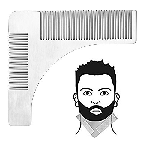 Pettine Barba,Genki Stainless Steel Barba Pettine,Impugnatura Facile per Ogni Tipo di Barba