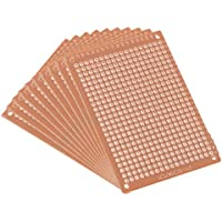 Sourcingmap - Placa de circuito impreso universal de una cara (5 x 7 cm, 10 unidades), color marrón