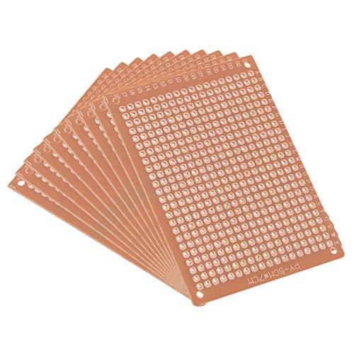 Sourcingmap carta 5x 7cm singolo lato universale circuito stampato per fai da te saldatura marrone pz