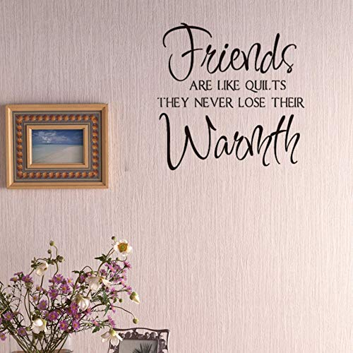 LovelyHomeWJ Freunde sind wie Quilt Vinyl Wand Aufkleber Zitate Wohnkultur Wohnzimmer Schlafzimmer DIY Kunst Tapete abnehmbare Wandaufkleber -
