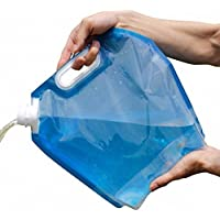 5L Folding Drinking Water Container Storage Bag Pouch for Camping Hiking Picnic BBQ