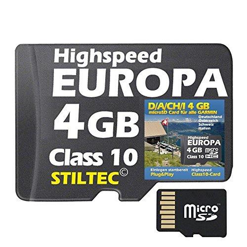 Deutschland + Österreich + Schweiz +Italien 4 GB Topo Map Für Garmin Edge 810 -