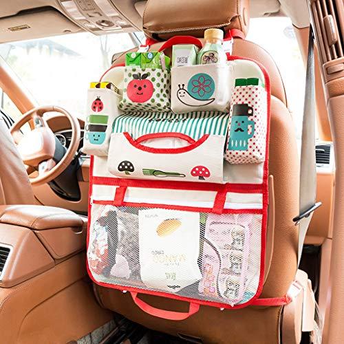RüCkenlehnenschutz Auto Kinder,TTLOVE Cartoon Autositz Aufbewahrungstasche Stuhl ZurüCk Kinderwagen HäNgen Tasche Veranstalter Inhaber RüCksitz Organizer Auto-Aufbewahrungstasche With Multi-Pocket