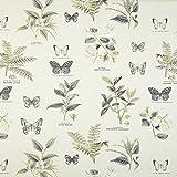 Botanik Butterflys Pflanzen Vintage Vorhang Polster Stoff