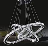 Tenlion Kristall Kronleuchter Pendelleuchte Deckenleuchte 30cm * 50cm * 70cm Cool White