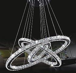 Chandeliers Ceiling Lights Tenlion Crystal Chandelier Padent Lamp Celling Light 30cm*50cm*70cm Neutral White