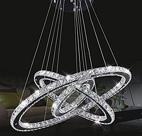 Tenlion Crystal Chandelier Padent Lamp Celling Light 30cm*50cm*70cm Neutral White
