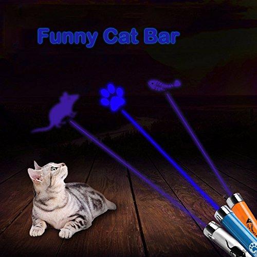 ATPWONZ 3 pcs Gatos de Juguetes LED que indica Mascotas Proyección
