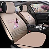 YL Ladies Car Cushion Cute Cartoon Seat Dentelle Four Seasons Car Cushion Car