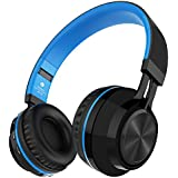 Alihen BT-06 Swift Auriculares Estéreo Inalámbricos con Bluetooth 4.0, Micrófono y Control de Volumen + Cable de Audio. Compatible con la mayoría de Teléfonos / iPhone / Samsung / PC / Tv / Laptop (Azul)
