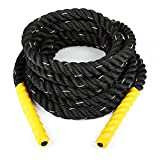 Klarfit Monster Rope - Corde d'entrainement intensif cross training (9m, Ø 3,8cm, nylon ultra-résistant) - doré