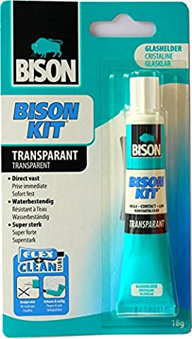 BISON Colle Super Forte 18 Gr prise immédiate Transparente Cristaline