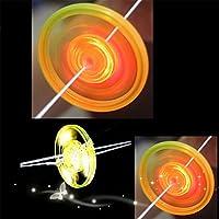 Juguete de Volante para Niños, Flash Gyro Fitness Glowing Pull The Line Flywheel, Tire de Línea de luz hasta Gyro Toys, Novedad Regalo de Cumpleaños para Niños, Random