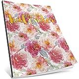 Dékokind® Tagebuch-Kalender: One Line A Day • Ca. A4-Format, Notizseiten & Zitate für jeden Monat • Kalenderbuch, Tagesplaner, Terminkalender • ArtNr. 41 Wasserfarben • Vintage Softcover