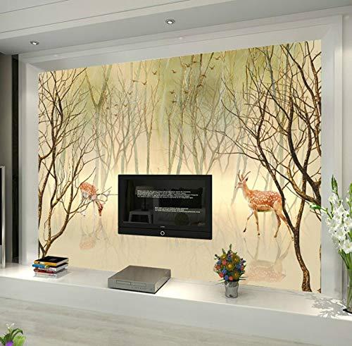 Nordic 3d stereo video wand tapete wohnzimmer TV hintergrund wandmalerei schlafzimmer tapete nahtlose wandverkleidung 300 cm * 210 cm