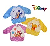 BABY/TODDLER BOYS GIRLS LONG SLEEVE WATERPROOF BIB APRON DISNEY WINNIE THE POOH, MICKEY MOUSE, MINNE MOUSE (Micky Mouse)BIBS