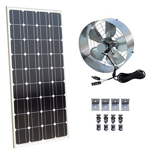 Ökoeffiziente 25 W solarbetriebene Dachboden Entlüftung mit Solarmodul, Model 5 -