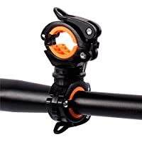 Support de la lampe de poche de vélo Nincha, rotation à 360° - Support pour lampe de poche LED de VTT - Accessoires de montage, pince et agrafe