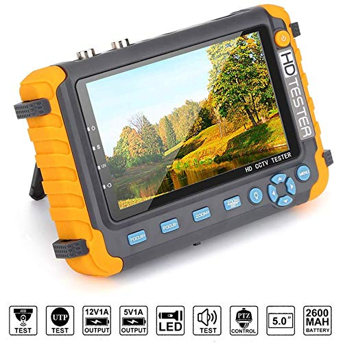 WXS CCTV-Kamera-Monitor-Tester 5MP AHD 5MP TVI 4MP CVI CVBS Analog Überwachungskamera Tester Video-Monitor Mit PTZ Controller/UTP-Kabel Test/VGA HDMI-Eingang Nicht Unterstützung IP-Kamera