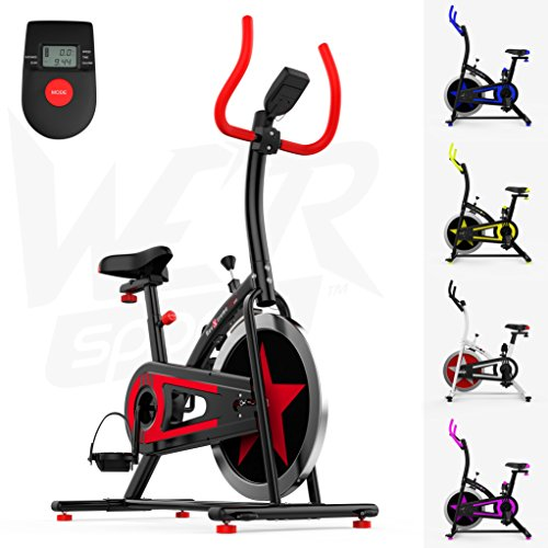 We R Sports Exercise Bike/ Aerobic Indoor Training Cycle Fitness Cardio Workout Home Cycling Machine - 10KG Flywheel