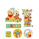 Wandsticker 40x30cm PREMIUM Wandtattoo Wandaufkleber Sticker - Disney I-Ah Tigger Winnie Pooh Ferkel Cartoon bunt - no. 4790