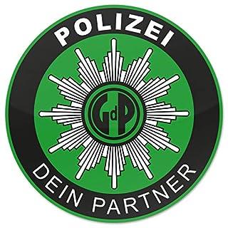 Polizei GDP 10x Aufkleber Innen Knöllchenstop Gewerkschaft Sticker Grün